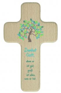 Kreuz für Kinder Dankgebet 18 cm Kruzifix Holz-Kreuz Geschenkbox