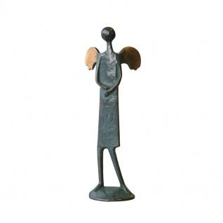 Bronzeskulptur Die Schüchterne 23 cm Bronze Figur