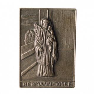 Namenstag Hermann-Josef 8 x 6 cm Geschenk Bronzerelief Wandbild Schutzpatron