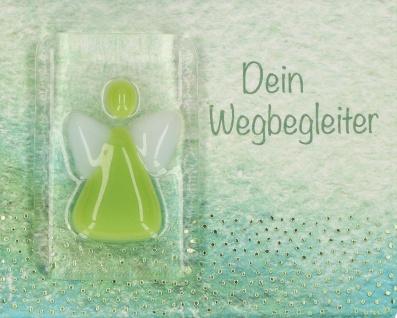 Handschmeichler Dein Wegbegleiter Grün Glas klar