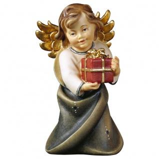 Herzengel mit Geschenk Holzfigur geschnitzt Engelfigur Südtirol