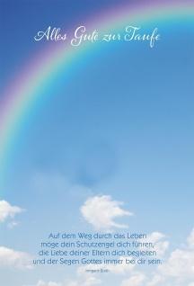 Glückwunschkarte Taufe Irmgard Erath Segens Sakrament (6 Stück) Kuvert