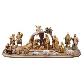 Heiland Krippe Set 25 Teile Holzfigur geschnitzt Südtirol Weihnachtskrippe