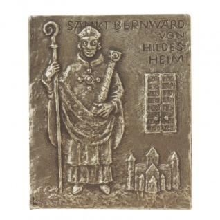 Namenstag Bernward von Hildesheim 13 x 10 cm Bronzerelief Wandbild Schutzpatron