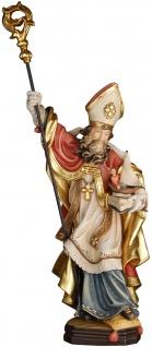 Heiliger Siegfried mit Schiff Heiligenfigur Holz geschnitzt Schutzpatron