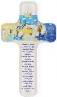 Kinderkreuz Vierzehn Engel 18 cm Acrylglas Wandkreuz Geschenk zur Kommunion