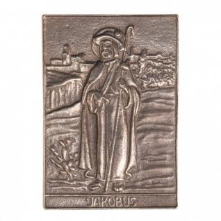 Namenstag Jakobus 8 x 6 cm Bronzeplakette Bronzerelief Wandbild Schutzpatron