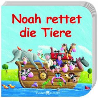 Noah rettet die Tiere, Geschenkbuch für Kinder Christliche Bücher