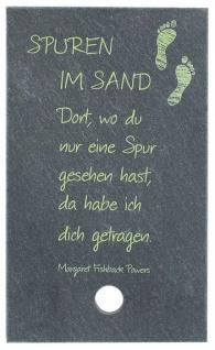 Schiefertafel Spuren im Sand zum Aufstellen 10 cm Wandbild Deko