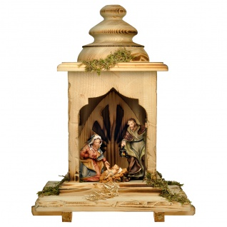 Ulrich Krippe Set 5 Teile Holzfigur geschnitzt Südtirol Weihnachtskrippe