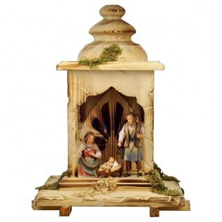Hirten Krippe Set 5 Teile Holzfigur geschnitzt Südtirol Weihnachtskrippe