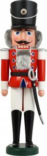 Nussknacker Husar rot 60 cm Holz-Figur Handarbeit aus Seiffen im Erzgebirge