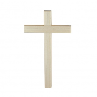 Wandkreuz Holzkreuz Esche hell Kreuz Kruzifix Eschenholz Holz schlicht 20 cm