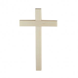 Wandkreuz Holzkreuz hell Kreuz Kruzifix Eschenholz Holz schlicht 20 cm
