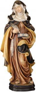 Heilige Verena mit Feder und Kamm Holzfigur geschnitzt Südtirol Schutzpatronin