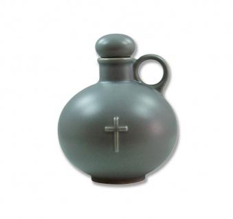 Weihwasserkrug Kreuz Keramik grau matt 0, 5 l Weihwassergefäß Weihwasserbehälter