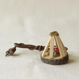 Lagerfeuer handgefertigt elektrifiziert 4 cm Zubehör für Weihnachtskrippe