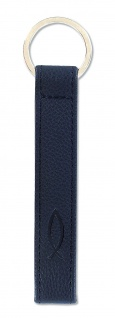 Schlüsselanhänger Ichthys Leder 14 cm schwarz Fisch Anhänger - Vorschau
