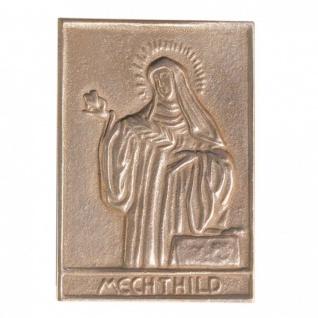 Namenstag Mechthild 8 x 6 cm Bronzeplakette Bronzerelief Wandbild Schutzpatron - Vorschau