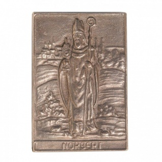 Namenstag Norbert 8 x 6 cm Bronzeplakette