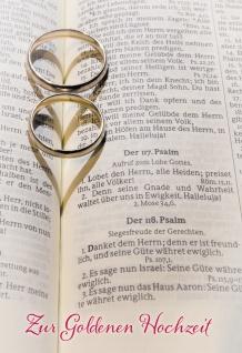 Glückwunschkarte Goldene Hochzeit Eheringe Herzen 6 St Kuvert Dankbarkeit
