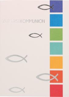 Glückwunschkarte Fische Zur Erstkommunion (6 Stück) Grußkarte Kommunion