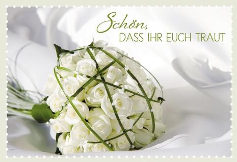 Glückwunschkarte Hochzeit Rosen 6 St Kuvert Bibelwort Korinther Trauung Liebe