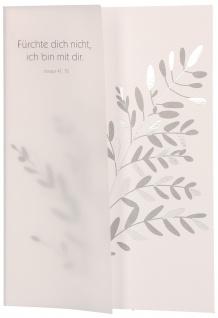 Trauerkarte Jesaja 6 St Kuvert Transparent-Umleger Bibelwort Beistand Gott