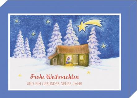 Weihnachtskarte Grußkartenbox Bunte Weihnachtswünsche 8 Karten mit Kuvert
