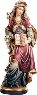 Heilige Astrid mit Buch Holzfigur geschnitzt Südtirol Märtyrerin