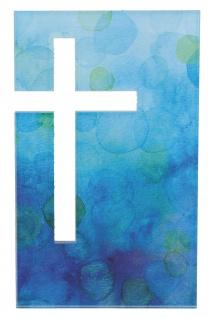 Wandrelief Acrylglas Kreuz 18 cm Geschenkverpackung Glaskreuz