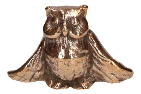 Uhu 5 cm Tierfigur aus Bronze Figur Fonteyne Peter Bronzeskulptur