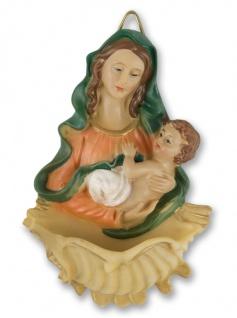 Weihkessel Madonna Kind handbemalt 11cm Maria Jesuskind Weihwasserbecken