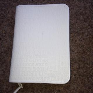 Gotteslobhülle Jesus Großdruck Kunstleder Weiß Gesangbuch Einband Katholisch