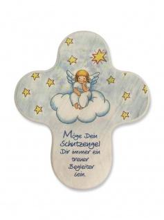 Kinderkreuz Engel Wolke Naturholz Möge Dein Schutzengel.. 11 cm Wandkreuz Holz