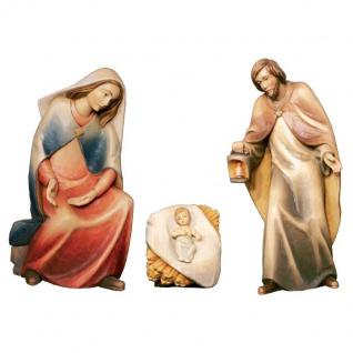 Heilige Familie 4-teilig Holzfigur geschnitzt Südtirol