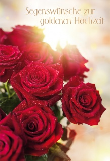 Glückwunschkarte Goldene Hochzeit Rosen 6 St Kuvert Bibel Korinther Liebe Ehe