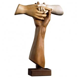 Tau Kreuz der Freundschaft Franziskus Stehkreuz Holzkreuz geschnitzt Kruzifix