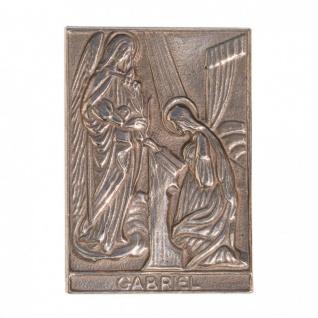 Namenstag Gabriel 8 x 6 cm Bronzeplakette Bronzerelief Wandbild Schutzpatron