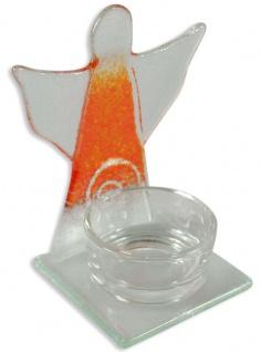 Teelichthalter Schutzengel Spirale Orange 10 cm Kerzenhalter Kerzenständer