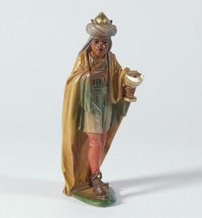 Tiroler Krippe König Mohr bemalt bunt 15 cm Krippen Figur Weihnachten