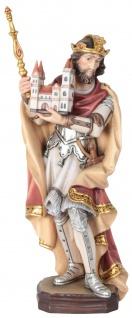 Heiliger Heinrich Holzfigur geschnitzt Südtirol Schutzpatron von Bamberg