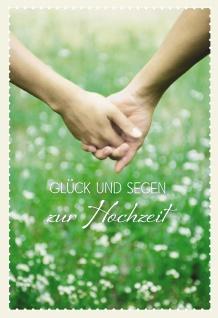 Glückwunschkarte Hochzeit Hände 6 St Kuvert Bibelwort Blumen Segen Schutz Liebe