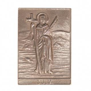 Namenstag Julia 8 x 6 cm Bronzeplakette Bronzerelief Wandbild Schutzpatron