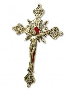 Wandkreuz Corpus Metall antik goldfarben Kreuz 20 cm INRI Kruzifix Christlich