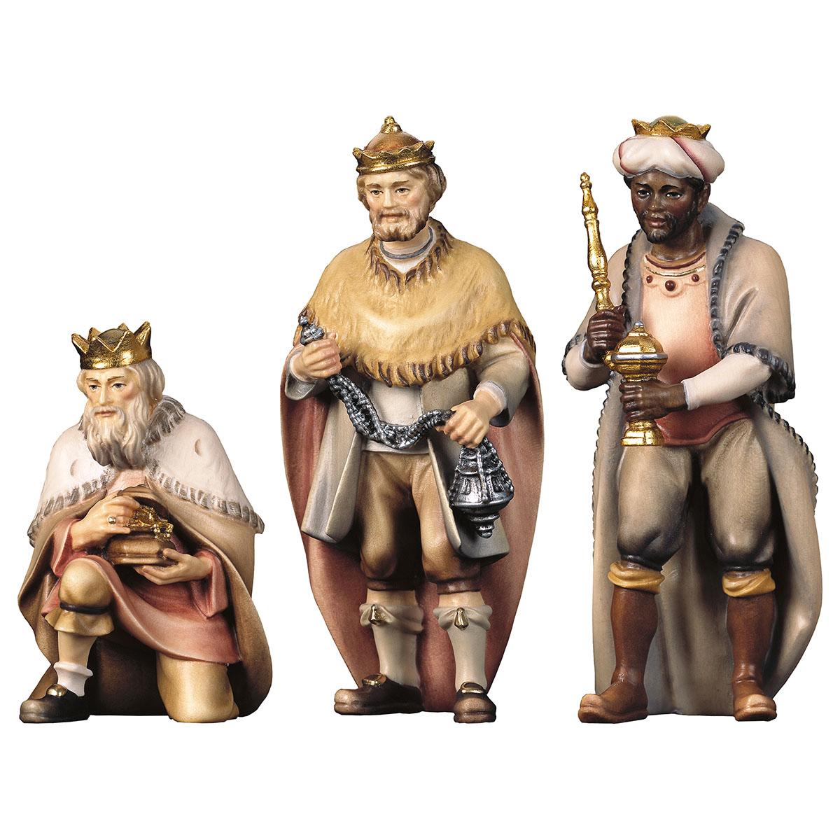 heilige drei könige 3 teile holzfigur geschnitzt