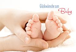 Gluckwunschkarte zum baby