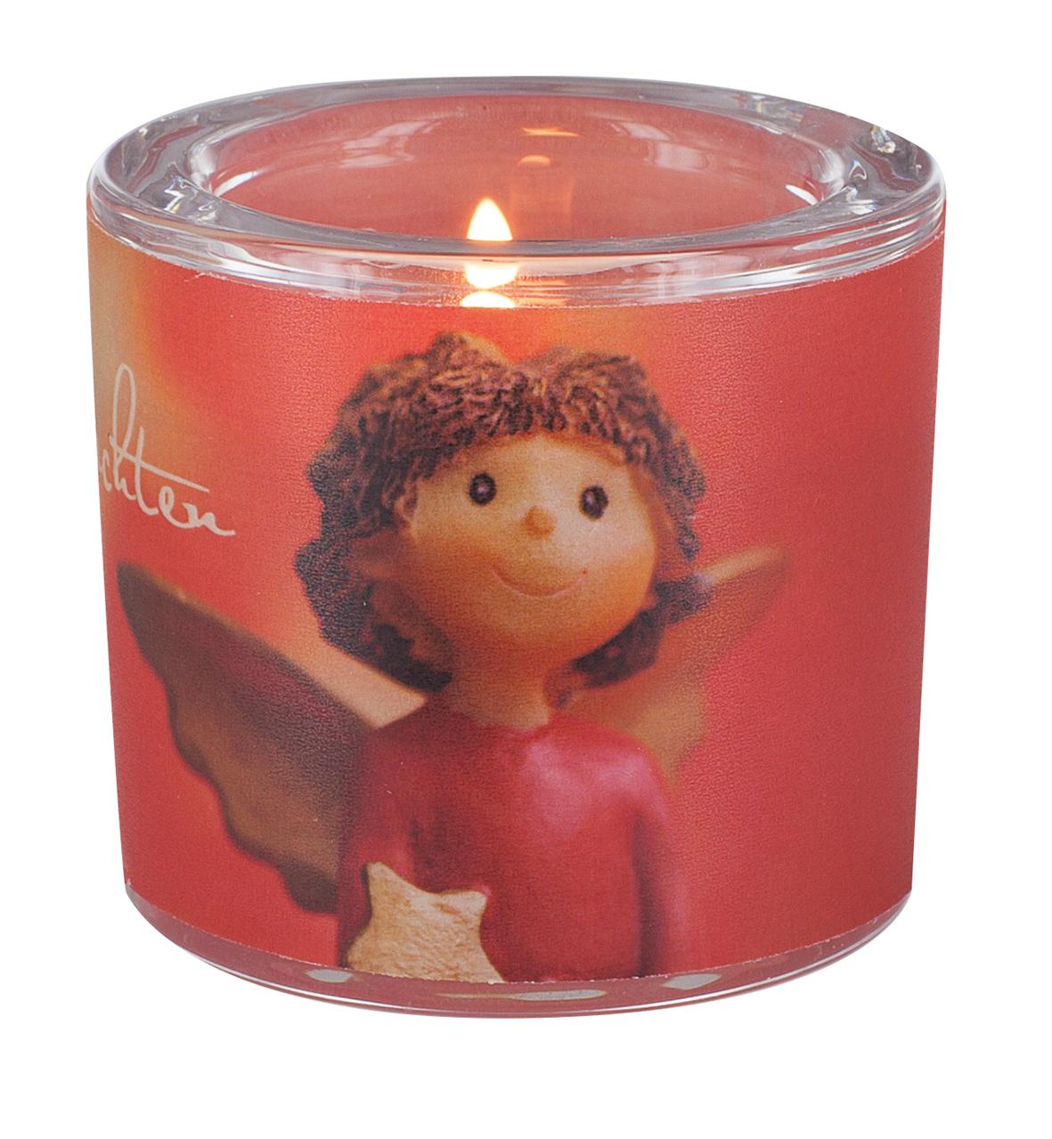 Kerzenhalter Weihnachten.Glaswindlicht Frohe Weihnachten Teelicht Kerzenhalter Glas Für Windlicht