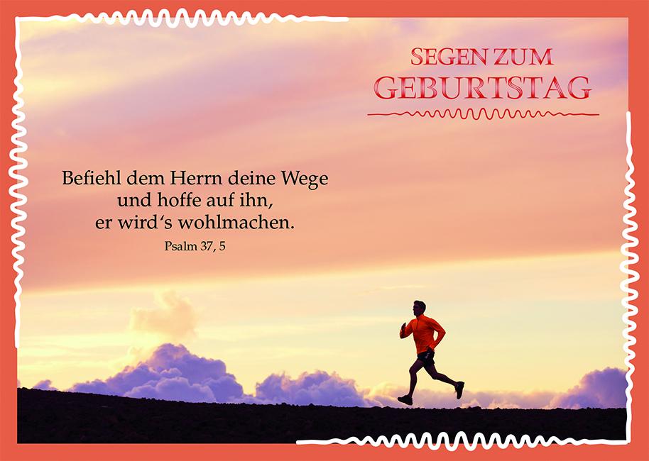 Postkarte Zum Geburtstag Psalm Bibel Segen 10 Stck