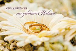 Gluckwunschkarte Gluckwunsche Zur Goldenen Hochzeit 6 St Eheringe
